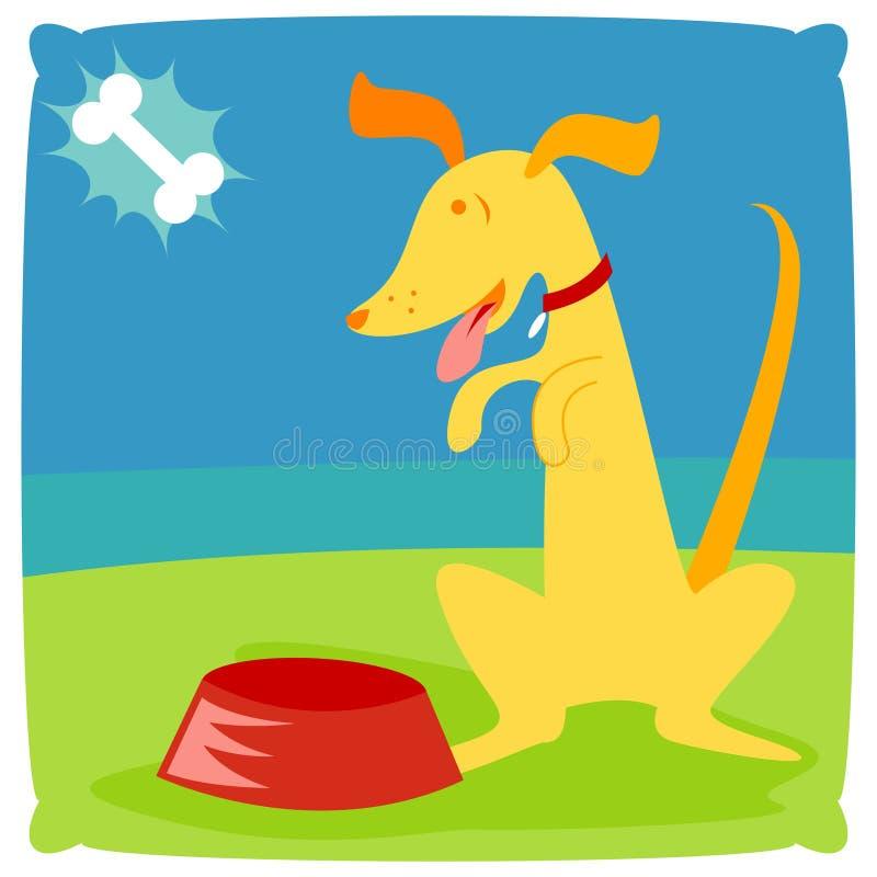 Het puppy bedelt royalty-vrije illustratie