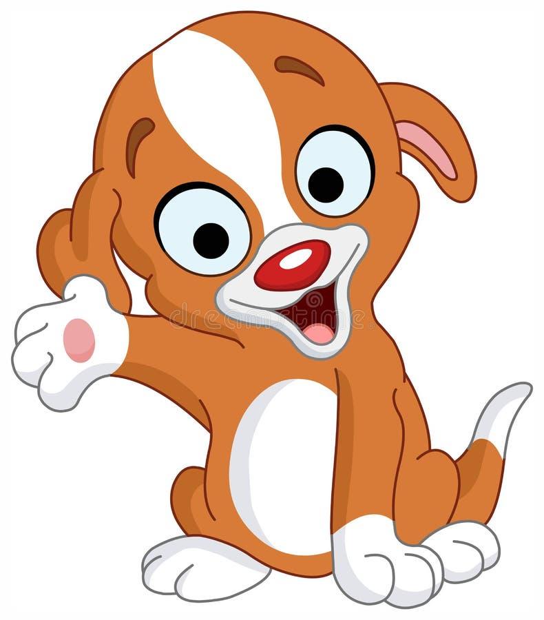 Het puppy van de presentator royalty-vrije illustratie