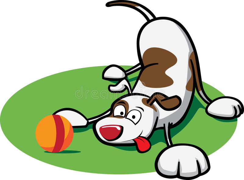 Het Puppy van Playfull royalty-vrije illustratie