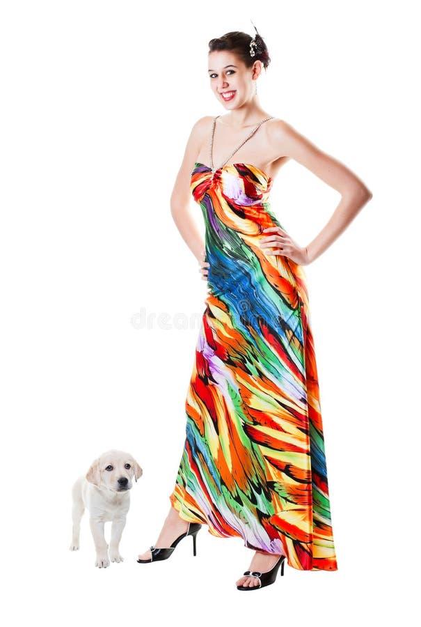 Het Puppy van Prom royalty-vrije stock foto