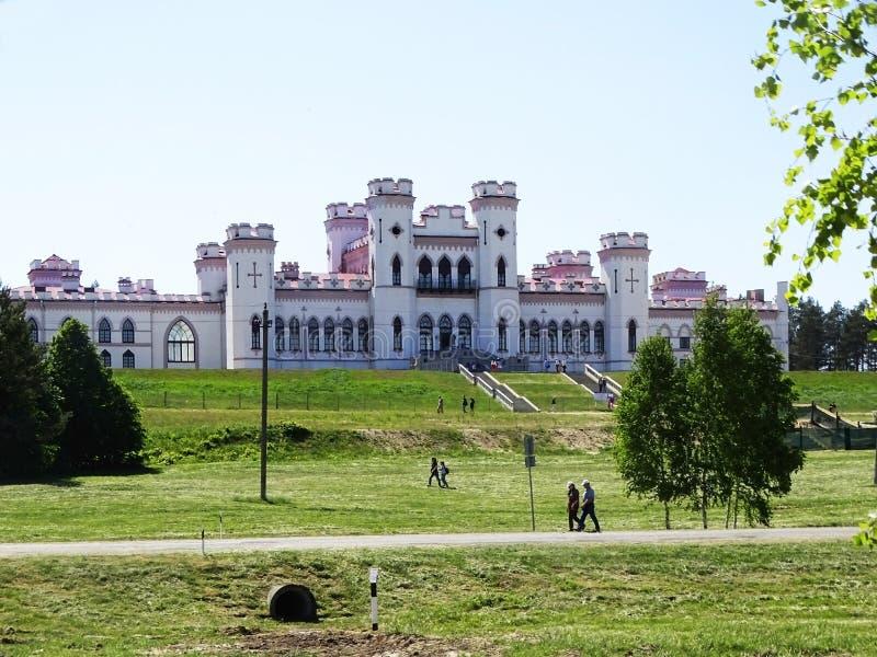 Het Puslovsky-Paleis in Kossovo Wit-Rusland stock afbeeldingen