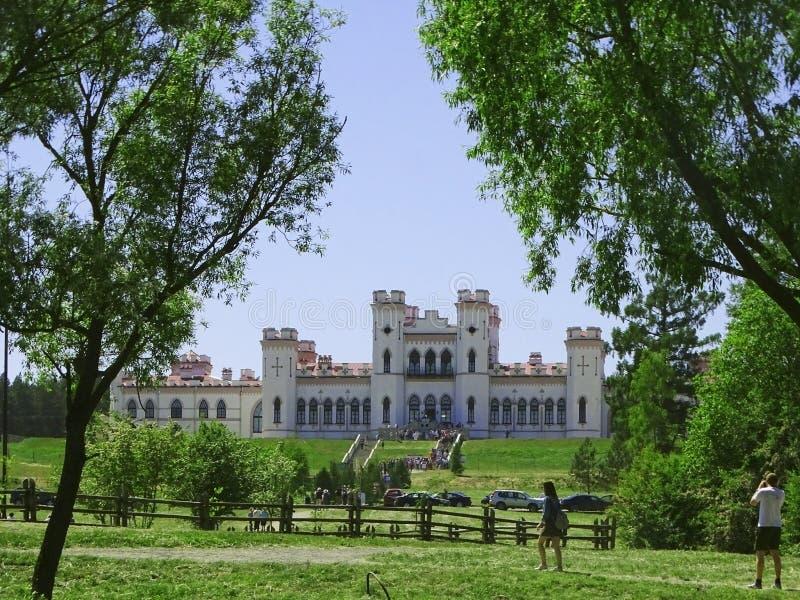 Het Puslovsky-Paleis in Kossovo Wit-Rusland royalty-vrije stock afbeeldingen