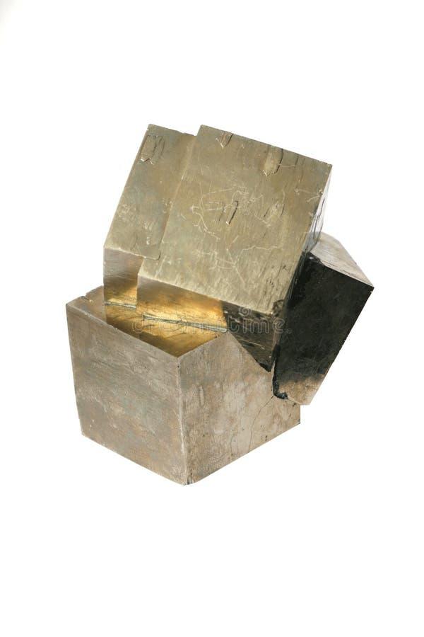 Het pyriet van het ijzer stock afbeelding