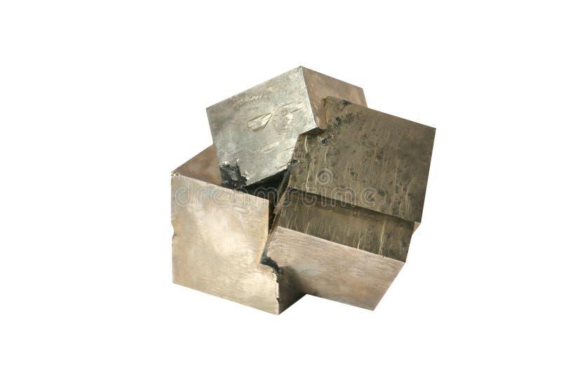 Het pyrietkristallen van het ijzer royalty-vrije stock fotografie