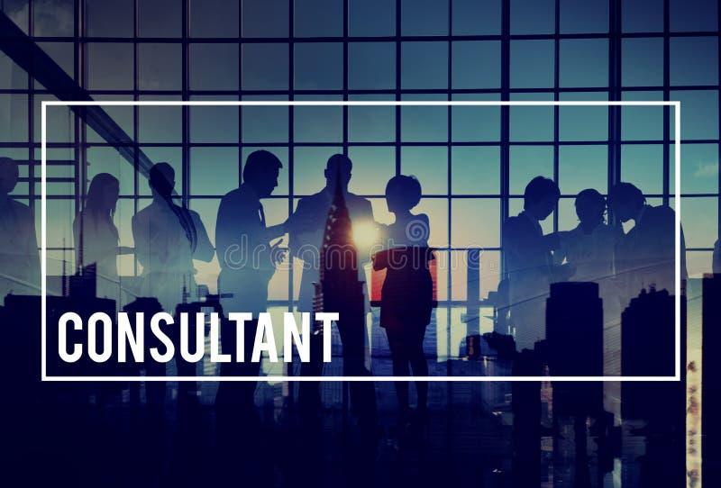 Het Raadplegen van adviseuradvisor advise consult Concept royalty-vrije stock afbeelding