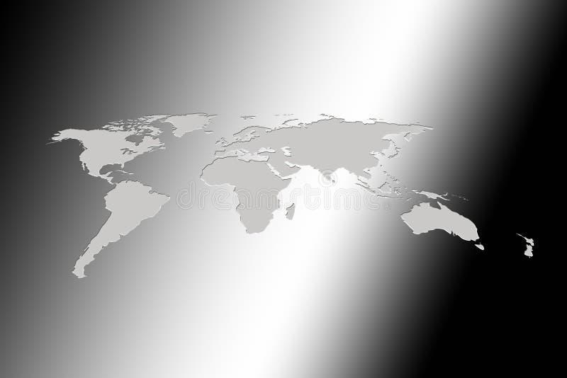 Het Raadplegen van de wereld vector illustratie