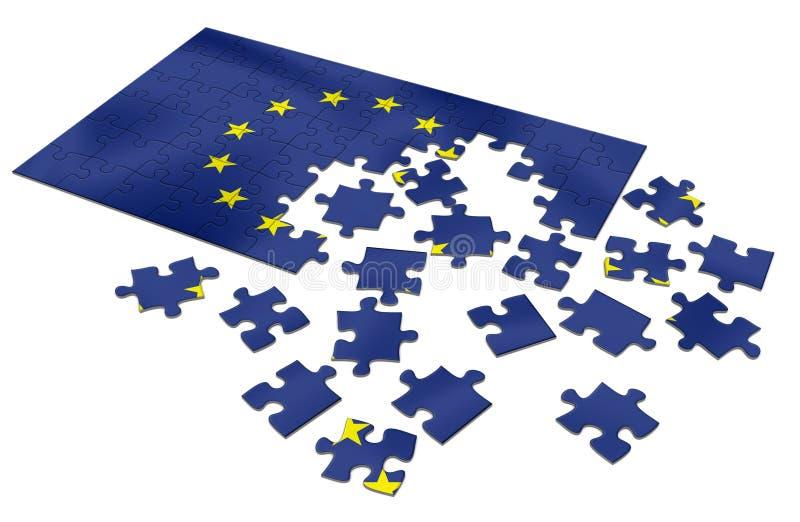 Het raadsel van de EU royalty-vrije illustratie