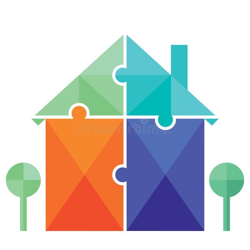 Het raadsel van de huiseigendom stock illustratie