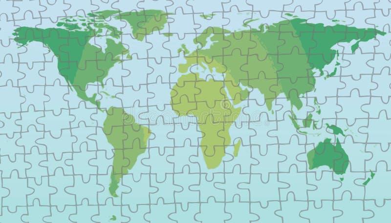 Het Raadsel van de Kaart van de wereld royalty-vrije illustratie