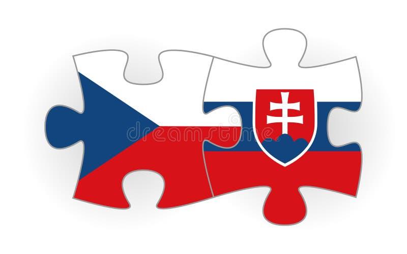 Het raadsel van de Tsjechische republiek van de Slowaakse republiek en stock afbeeldingen