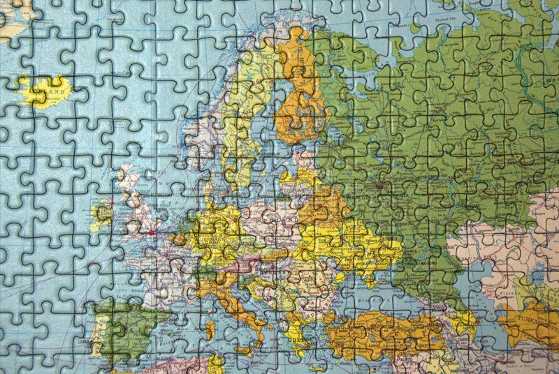 Het raadsel van Europa vector illustratie