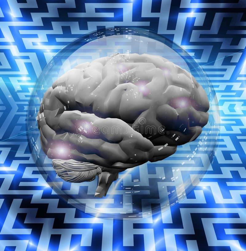 Het Raadsel van hersenen royalty-vrije illustratie