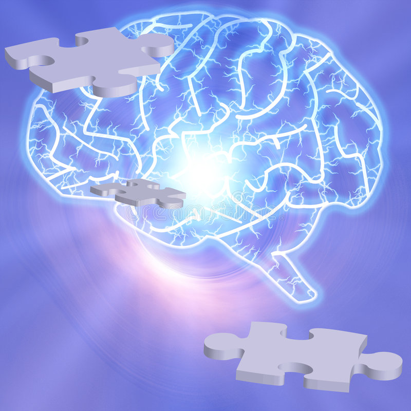 Het Raadsel van hersenen stock illustratie