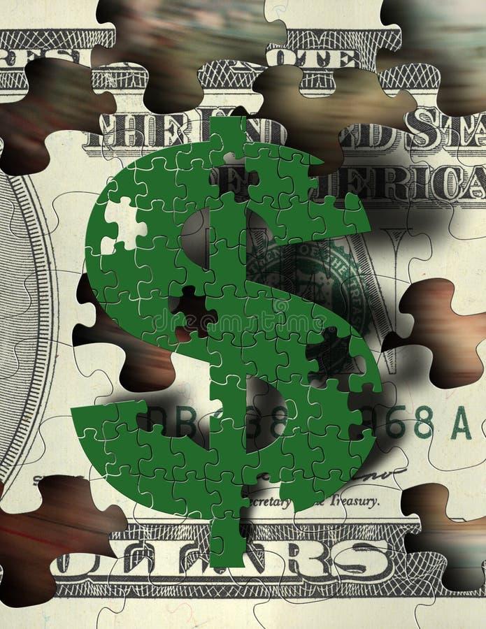 Het Raadsel van het geld stock illustratie