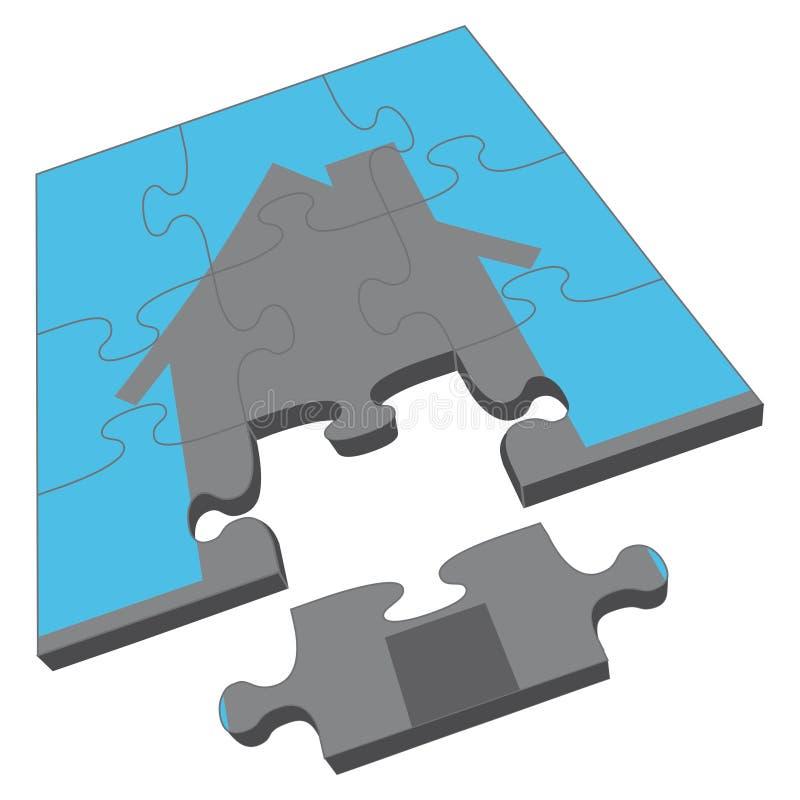Het Raadsel van het huis royalty-vrije illustratie
