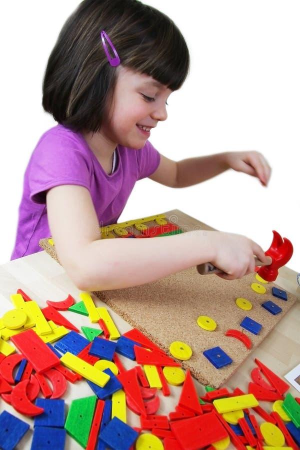 Het raadsel van Montessori. Peuter. royalty-vrije stock foto