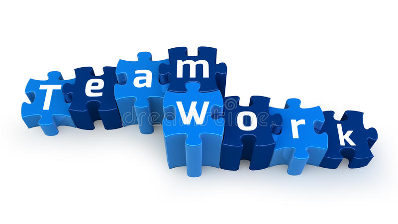 Het raadseltekst van het Werk van het team vector illustratie