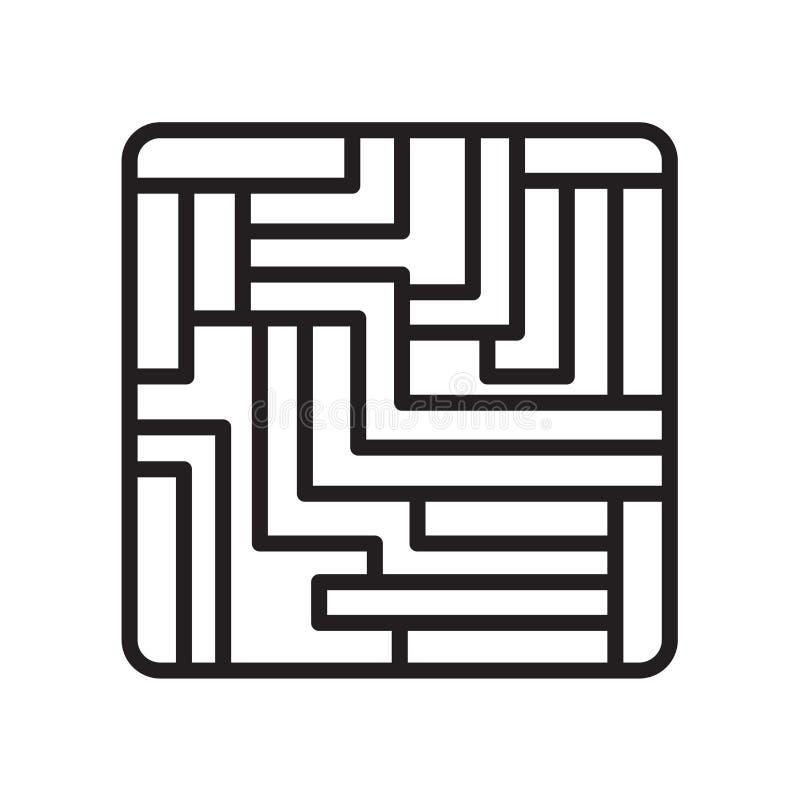 Het raadsspel blokkeert pictogram vectordieteken en symbool op wit wordt geïsoleerd vector illustratie