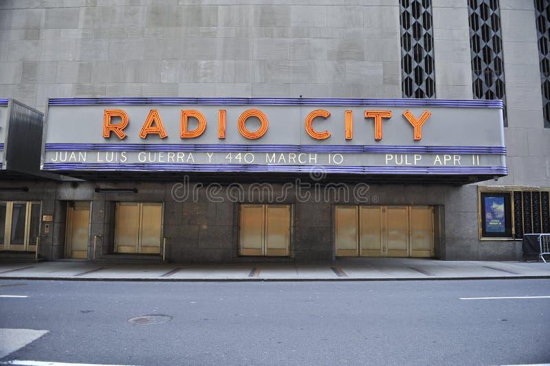 Het radio Teken van het Stadhuis royalty-vrije stock fotografie