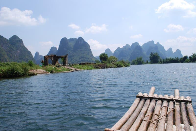 het rafting op de Rivier Lijiang royalty-vrije stock fotografie