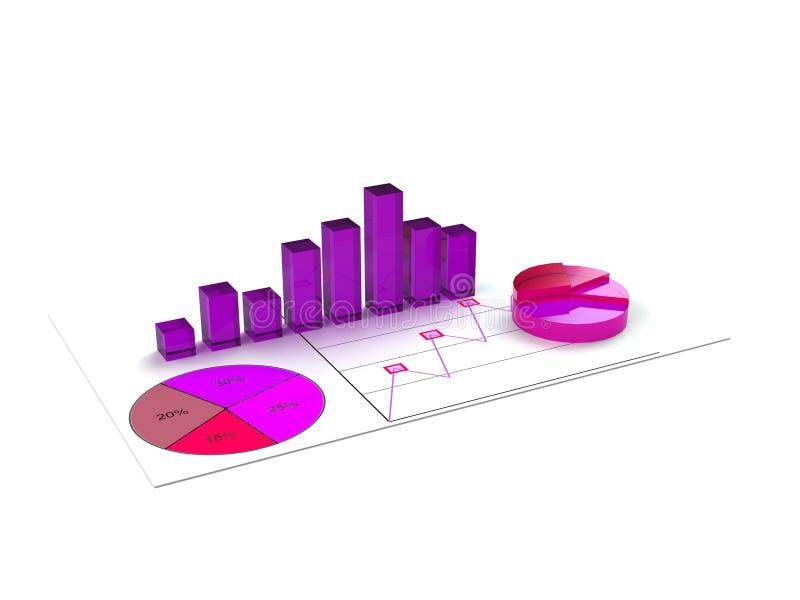 Het rapport van de bedrijfsgrafiekanalyse stock fotografie