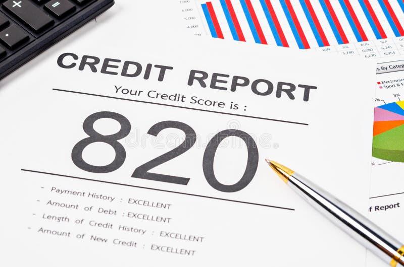 Het Rapport van de kredietscore royalty-vrije stock foto's