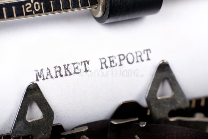 Het Rapport van de markt stock foto