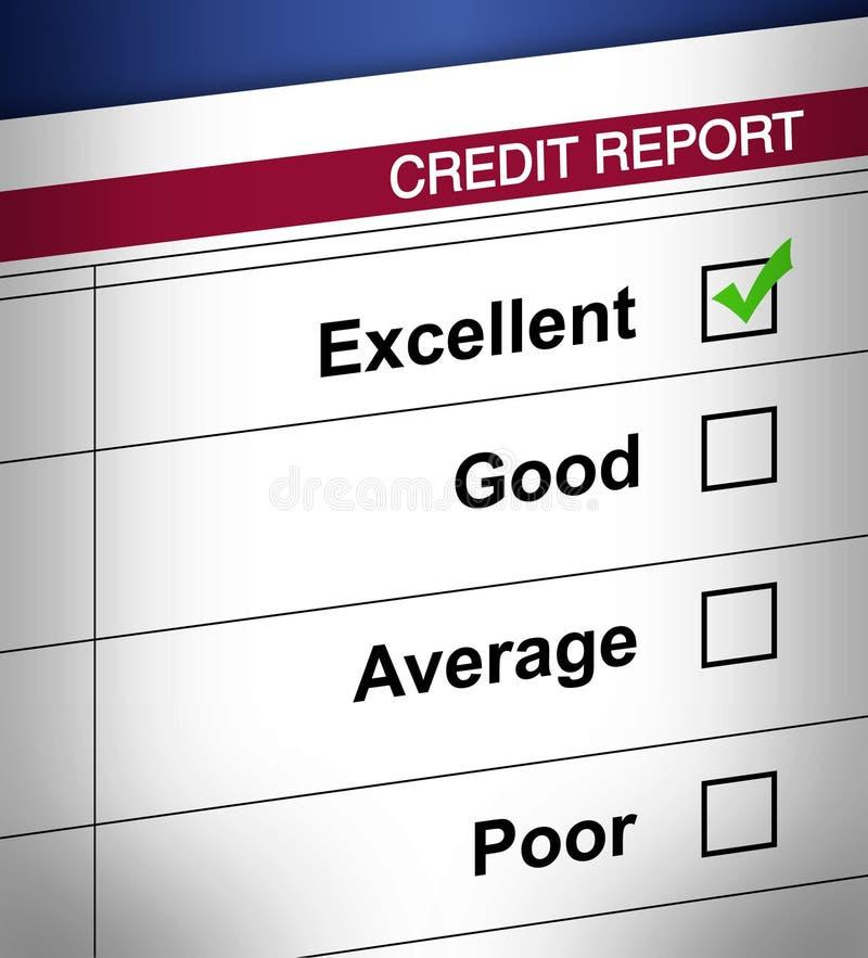Het rapport van het krediet vector illustratie