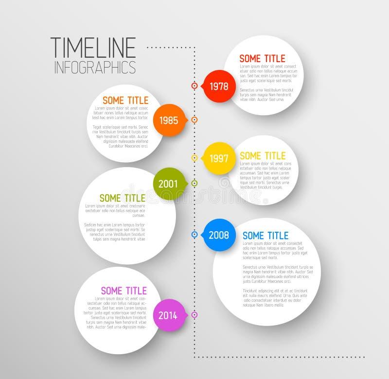 Het rapportmalplaatje van de Infographicchronologie stock illustratie