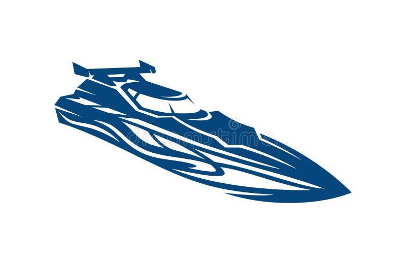 Het Ras Clipart van de snelheidsboot vector illustratie