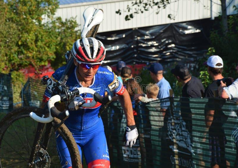 Het Ras van Cyclocross stock foto
