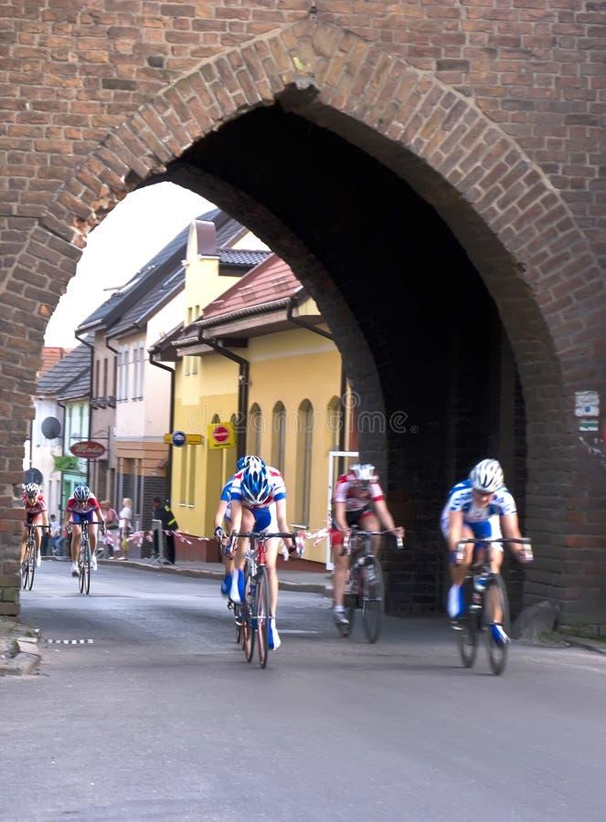 Het ras van de cyclus in Polen royalty-vrije stock fotografie