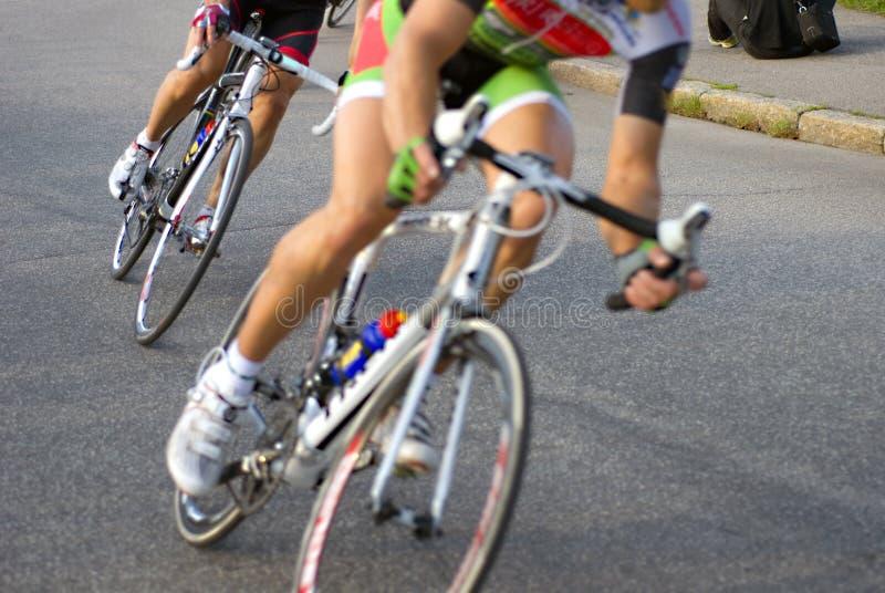 Het ras van de fiets stock afbeelding
