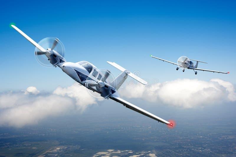 Het ras van de lucht stock fotografie