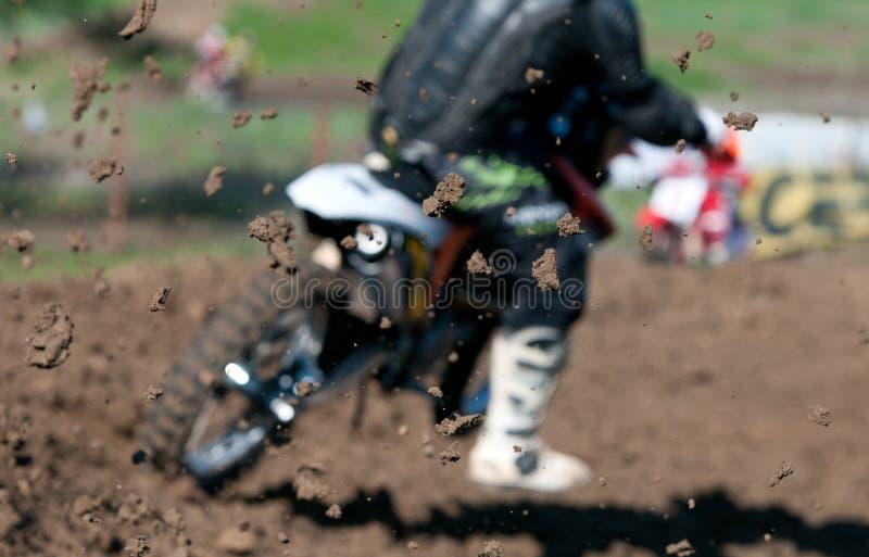 Het Ras van de motocross stock foto