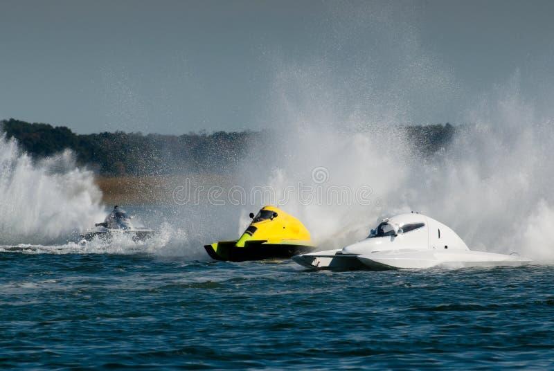 Het Ras van de motorboot stock foto