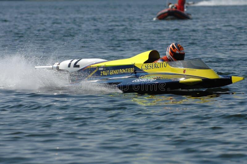 Het ras van de motorboot royalty-vrije stock fotografie