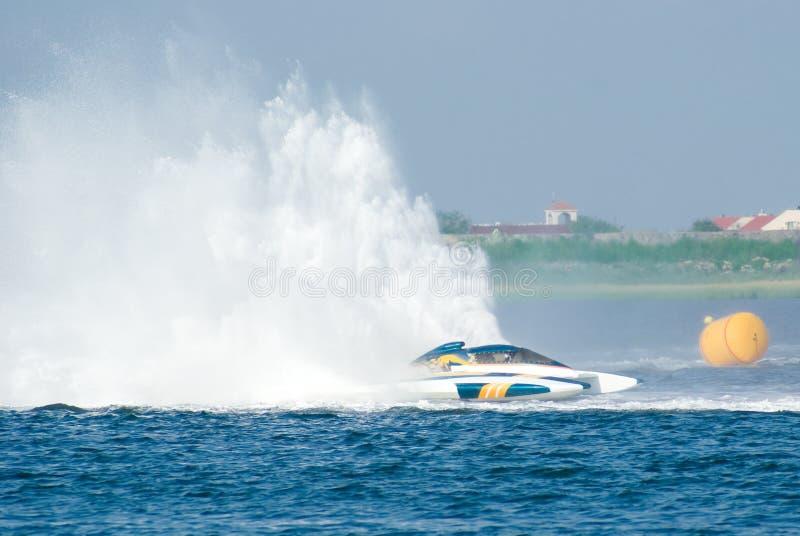 Het Ras van de motorboot stock afbeelding