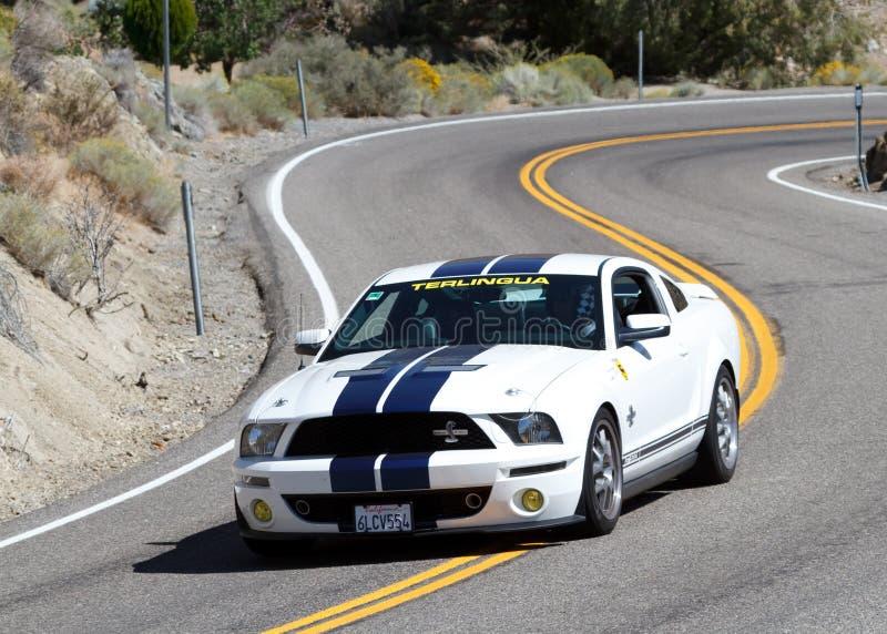 Het ras van de sportwagen royalty-vrije stock foto