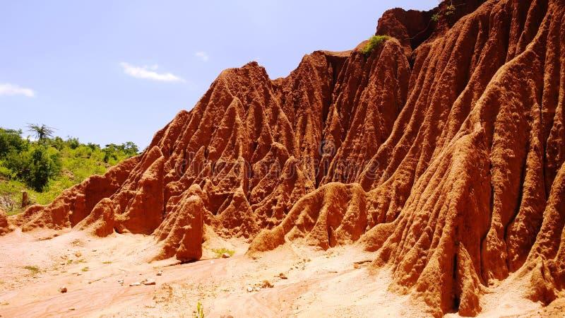Het ravijn van het erosiezand stock fotografie