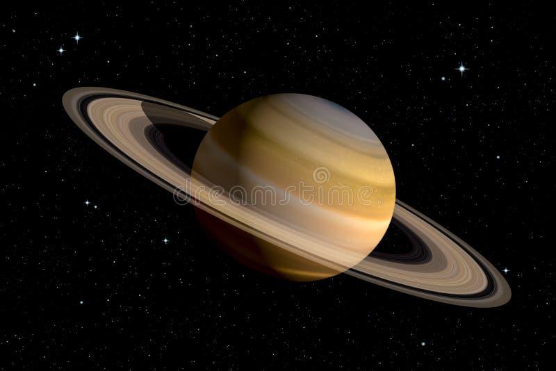 Het realistische 3d teruggeven van Saturn-planeet vector illustratie