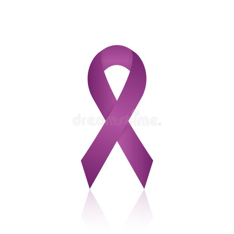 Het Realistische Lint van de alvleesklier- Kankervoorlichting Vector illustratie vector illustratie