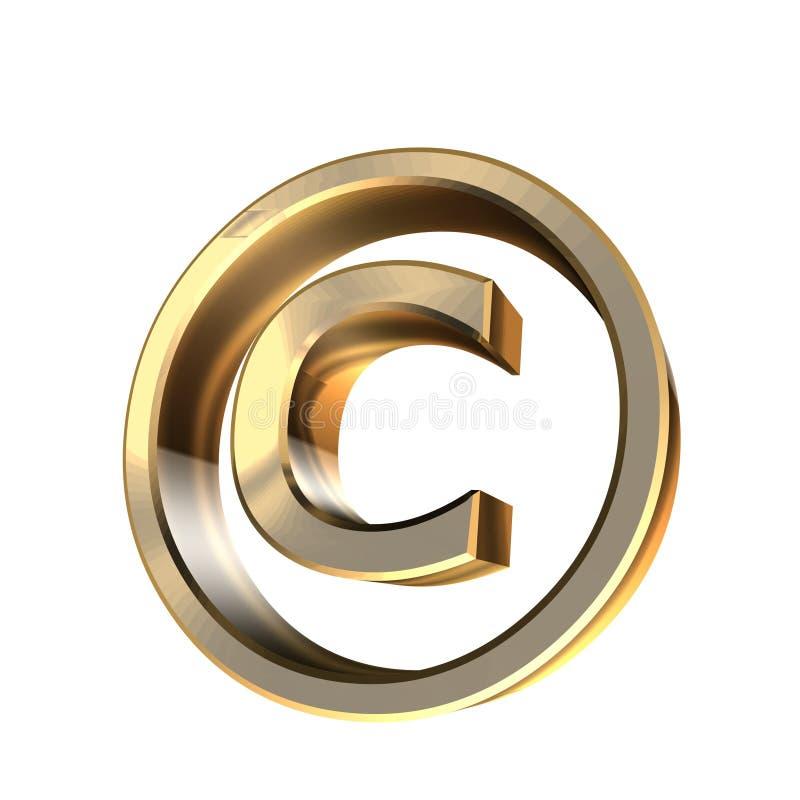 Het recht van het exemplaar royalty-vrije illustratie