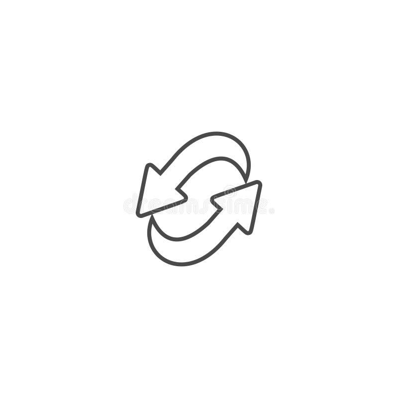 Het recyclerende pictogram van de ecologie dun lijn stock afbeeldingen