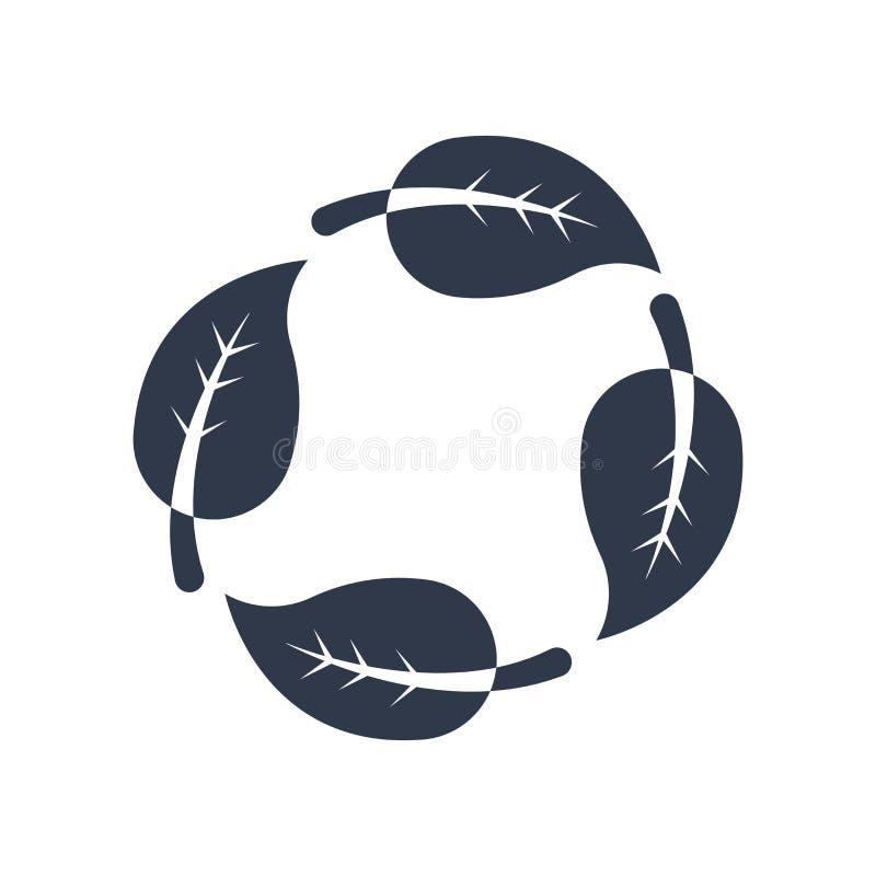 Het recyclerende vectordieteken en het symbool van het symboolpictogram op witte B wordt geïsoleerd vector illustratie