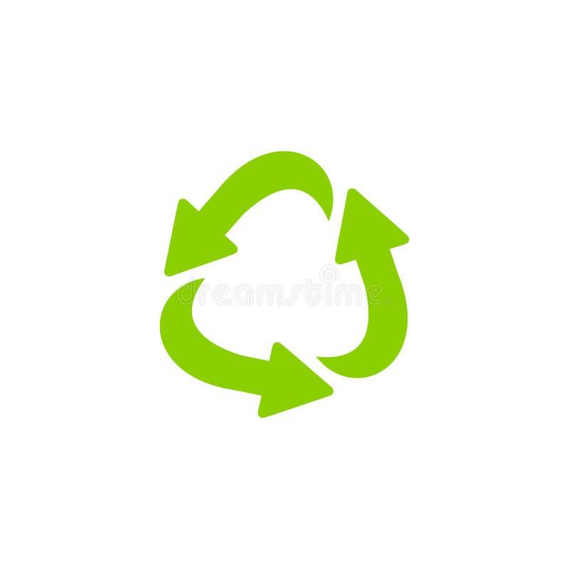 Het recyclerende vectorpictogram van de ecologie dun lijn stock illustratie