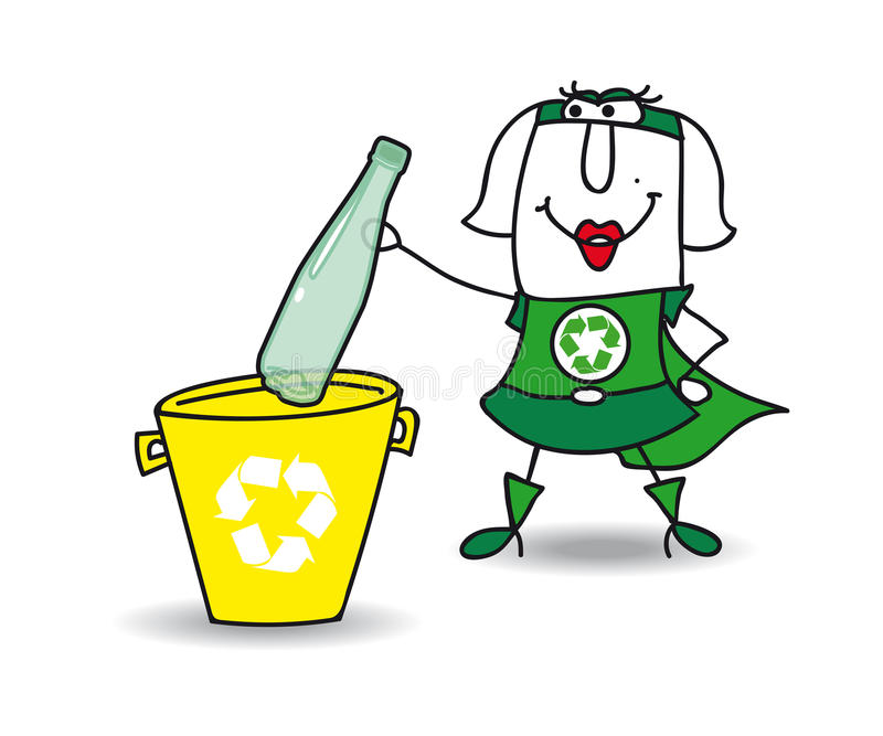 Download Het Recycling Van Een Plastic Fles Met Karen Vector Illustratie - Illustratie bestaande uit doodle, verontreiniging: 54081744