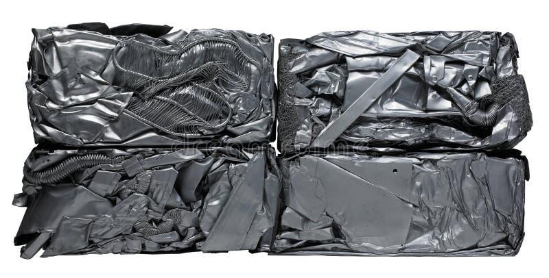 Het recycling van het metaal stock foto's