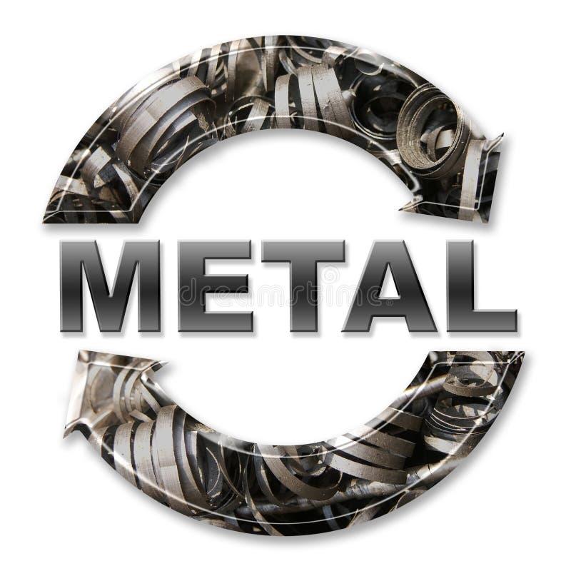 Het recycling van het metaal stock foto