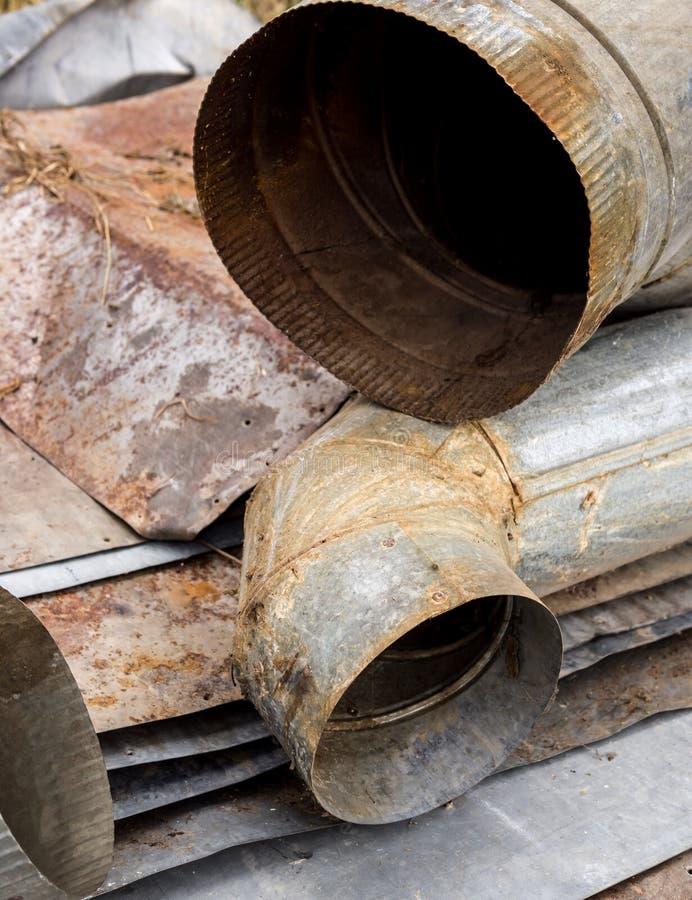 Het recycling van het metaal royalty-vrije stock afbeelding
